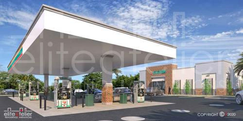 Gas Station Rendering